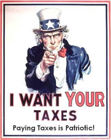 I want your Taxes