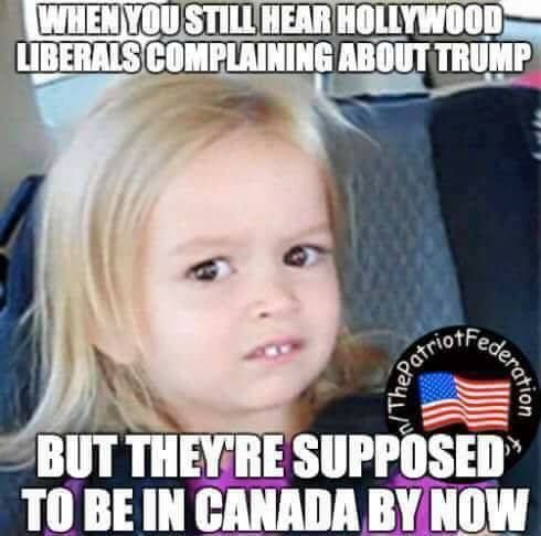 They're supposed to be in Canada